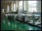 Transparent plastic sheet machine