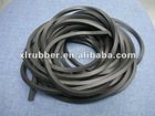 Black EPDM foam rubber strip