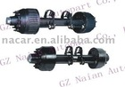 Trailer BPW axles with round beam for truck part