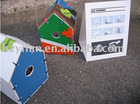 2012 new style foldable corrugated plastic pet house dog house colorful printing (SY945)