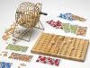7inch wooden bingo game set/bingo game set/bingo set