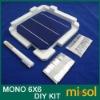 MONO 6X6 DIY KIT for solar panel: 40pcs MONO 6X6, Flux Pen, Tabbing Bus wire.