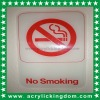 Clear No Smoking Sign