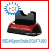 NEW USB 3.0 Double S SATA/IDE HDD Docking station Support:2.5'/3.5' HDD