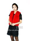 guaranteed 100% gunuine red fashion red fox fur vest VF05