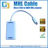 MHL cable adapter micro usb mhl to hdmi adapter for samsung galaxy s