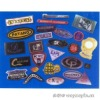 3d embossed soft pvc label for bags or shose+customized design available