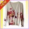 The Newest Fashion Design Ladies Printed Long Sleeve Long sleeve knit cardigan