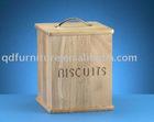 wooden biscuits box