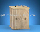 wooden biscuits box