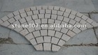 fan shape granite pavers