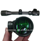 High quality 3-9X illuminated reticle first (Front) focal plane long eye riflescope with best price