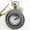 Fashion 2012 Newest Necklace Pocket Watch, Quartz Movement, FD47008, 47 x 47mm Archaize Antique Bronze Pocket Watch