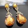ER626 Sparkling Big Crystal Drop Earrings