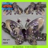 beautiful charming sparkling rhinestone butterfly hairpins design for lady girls