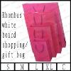 rhombus white board shopping/gift bag