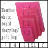 rhombus white board shopping/gift bag