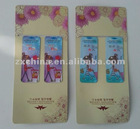 Hot promotional magnetic paper folding bookmark paper bookmark patterns