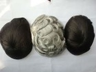 indian remy hair silk top toupee for men