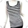 Ladies Lastest Fashion Pleat Sleeveless T-shirt