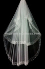 2012 New Fashionable Two-layer Beaded Edge Wedding Veils