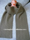 Inner Mongolia Ordos 100% cashmere knitted scarves with cable