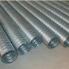 black Metallic corrugated pipe
