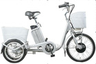 250W mini electric cargo trike for sale with front&rear basket