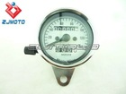 MINI Mechanical Speedometer with White Interface M=2.0 Ratio for Harley and Custom Motorcycles