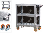 auto servicing tool storage DOK-100 metal Tool Trolley with three layers and wheels