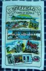silk screen printed kitchen towels napkins aprons checks tea towels/kitchen towel