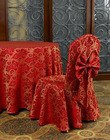 100% spun polyester Red wedding table cloth