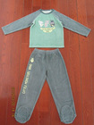 baby's knitted set of 2 pieces:long sleeve T-shirt + trouser with feet