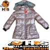 Girl's Warm Pongee Winter Coat HSC110345