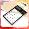 Mini Pocket Transparent touch screen calculator calculator solar cell For promotion Gift