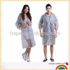 Fashionable men/women long rain coat transparent raincoat