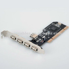 New 5 PORTS USB 2.0 USB 2 PCI 2.0 CARD For Windows XP and Vista