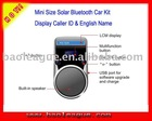 Solar Bluetooth Handsfree Car Kit With LCM Display Caller Caller ID Voice Report BT-010
