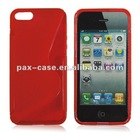 S line curve tpu gel case for iphone 5