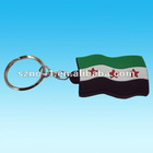 2012 Newest Cute Syria Flag 3D soft pvc keychain