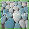 pebble tiles mosaic full sheet-light blue