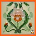 Handmade glazed ceramic wall tiles 15x15cm WT04