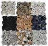 Cutting pebble mosaic tile