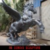 outdoor fiberglass horse sculpture