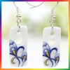 Swallowtail butterfly ceramic basketball wives earrings