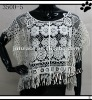 Indian women 100% cotton lace shawl with tassels for summer clothes(3500-5)