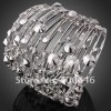 ARINNA Unique Alloy Crystal Bangle Bracelet Jewelry Costume Jewelry B0580