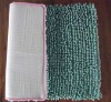 2012 green colorful thicker microfiber door floor cheap chenille mat on sale