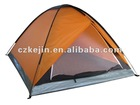 orange polyester outdoor camp tent