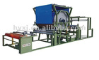 Hotizontal single cementing groove mesh belt laminating machine
